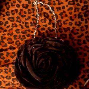 Black rose purse